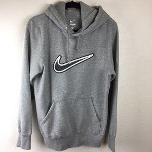 Nike hoody sweatshirt gray size small